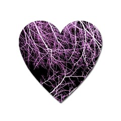 Purple Twigs Heart Magnet by timelessartoncanvas