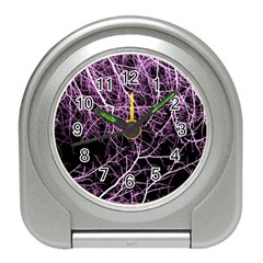 Purple Twigs Travel Alarm Clocks by timelessartoncanvas