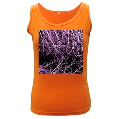 Purple Twigs Women s Dark Tank Tops by timelessartoncanvas