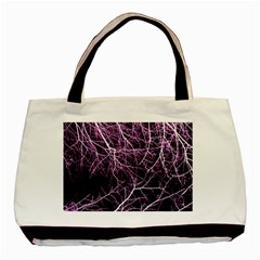 Purple Twigs Basic Tote Bag  by timelessartoncanvas