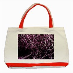 Purple Twigs Classic Tote Bag (red)  by timelessartoncanvas