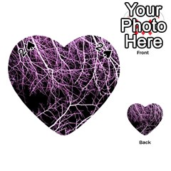 Purple Twigs Playing Cards 54 (heart)  by timelessartoncanvas