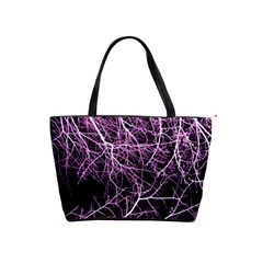 Purple Twigs Shoulder Handbags by timelessartoncanvas