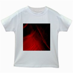 Red Abstract Kids White T-shirts by timelessartoncanvas