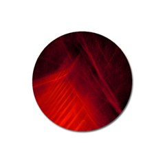 Red Abstract Magnet 3  (round) by timelessartoncanvas