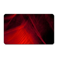 Red Abstract Magnet (rectangular) by timelessartoncanvas