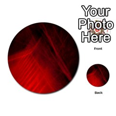 Red Abstract Multi Purpose Cards (round)