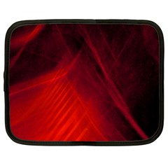 Red Abstract Netbook Case (large) by timelessartoncanvas