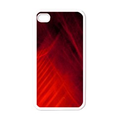 Red Abstract Apple Iphone 4 Case (white) by timelessartoncanvas