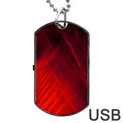 Red Abstract Dog Tag Usb Flash (two Sides)  by timelessartoncanvas
