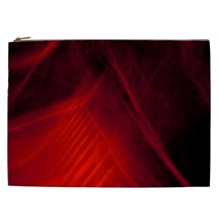 Red Abstract Cosmetic Bag (xxl)  by timelessartoncanvas