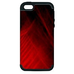 Red Abstract Apple Iphone 5 Hardshell Case (pc+silicone) by timelessartoncanvas