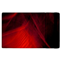 Red Abstract Apple Ipad 3/4 Flip Case by timelessartoncanvas