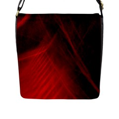 Red Abstract Flap Messenger Bag (l)  by timelessartoncanvas
