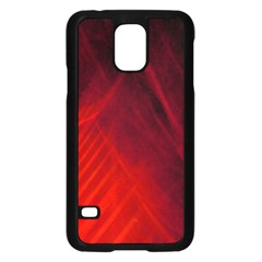 Red Abstract Samsung Galaxy S5 Case (black) by timelessartoncanvas