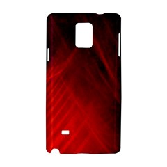 Red Abstract Samsung Galaxy Note 4 Hardshell Case by timelessartoncanvas