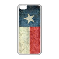 Texas Flag Vintage Retro Apple Iphone 5c Seamless Case (white) by bruzer