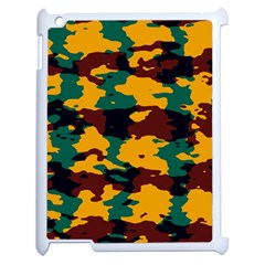 Camo Texture			apple Ipad 2 Case (white) by LalyLauraFLM