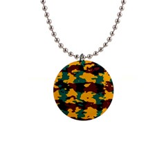 Camo Texture 			1  Button Necklace by LalyLauraFLM