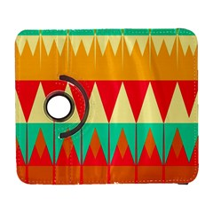Triangles And Other Retro Colors Shapes 			samsung Galaxy S Iii Flip 360 Case