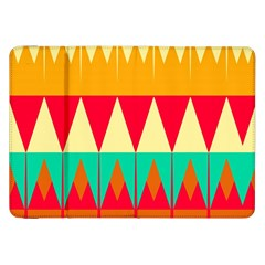 Triangles And Other Retro Colors Shapes 			samsung Galaxy Tab 8 9  P7300 Flip Case by LalyLauraFLM