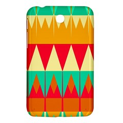 Triangles And Other Retro Colors Shapes 			samsung Galaxy Tab 3 (7 ) P3200 Hardshell Case by LalyLauraFLM