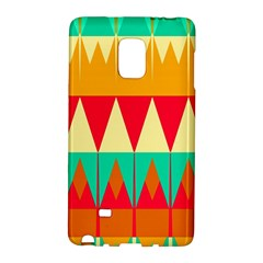 Triangles And Other Retro Colors Shapes 			samsung Galaxy Note Edge Hardshell Case by LalyLauraFLM