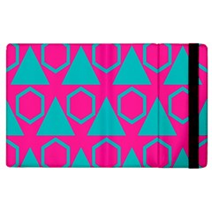 Triangles And Honeycombs Pattern 			apple Ipad 3/4 Flip Case by LalyLauraFLM