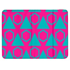 Triangles And Honeycombs Pattern 			samsung Galaxy Tab 7  P1000 Flip Case by LalyLauraFLM