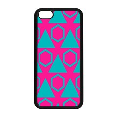 Triangles And Honeycombs Pattern 			apple Iphone 5c Seamless Case (black) by LalyLauraFLM