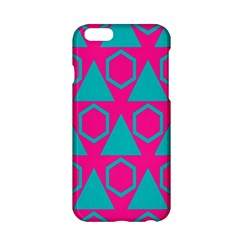 Triangles And Honeycombs Pattern 			apple Iphone 6/6s Hardshell Case by LalyLauraFLM