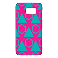 Triangles And Honeycombs Pattern 			samsung Galaxy S6 Hardshell Case by LalyLauraFLM