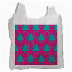 Triangles And Honeycombs Pattern 			recycle Bag (one Side) by LalyLauraFLM