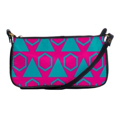Triangles And Honeycombs Pattern 			shoulder Clutch Bag by LalyLauraFLM