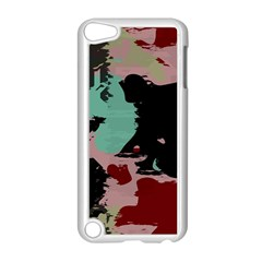 Retro Colors Texture 			apple Ipod Touch 5 Case (white)