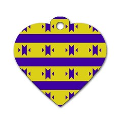 Tribal Shapes And Stripes 			dog Tag Heart (one Side) by LalyLauraFLM