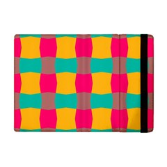 Distorted Shapes In Retro Colors Pattern 			apple Ipad Mini Flip Case by LalyLauraFLM