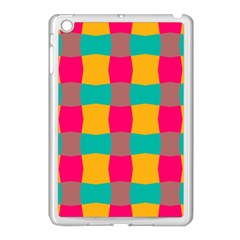 Distorted Shapes In Retro Colors Pattern 			apple Ipad Mini Case (white) by LalyLauraFLM