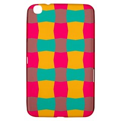 Distorted Shapes In Retro Colors Pattern 			samsung Galaxy Tab 3 (8 ) T3100 Hardshell Case by LalyLauraFLM
