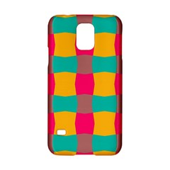 Distorted Shapes In Retro Colors Pattern 			samsung Galaxy S5 Hardshell Case by LalyLauraFLM