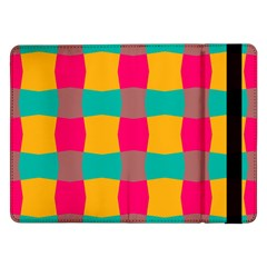 Distorted Shapes In Retro Colors Pattern 			samsung Galaxy Tab Pro 12 2  Flip Case by LalyLauraFLM