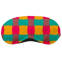 Distorted Shapes In Retro Colors Pattern 			sleeping Mask by LalyLauraFLM