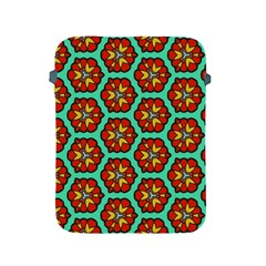 Red Flowers Pattern 			apple Ipad 2/3/4 Protective Soft Case by LalyLauraFLM