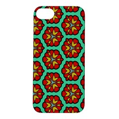 Red Flowers Pattern 			apple Iphone 5s Hardshell Case by LalyLauraFLM