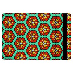 Red Flowers Pattern 			apple Ipad Air 2 Flip Case by LalyLauraFLM