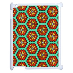 Red Flowers Pattern 			apple Ipad 2 Case (white) by LalyLauraFLM
