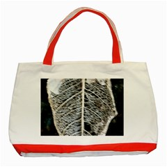 Modern Leaf 2 Classic Tote Bag (red)  by timelessartoncanvas