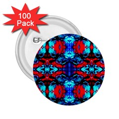 Red Black Blue Art Pattern Abstract 2 25  Buttons (100 Pack)  by Costasonlineshop