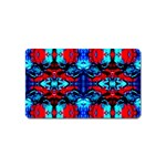 Red Black Blue Art Pattern Abstract Magnet (Name Card) Front