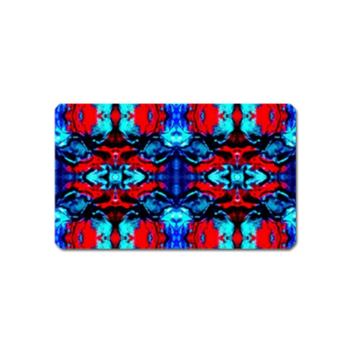 Red Black Blue Art Pattern Abstract Magnet (Name Card)